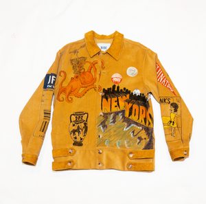 Bode Hand painted Senior Cord Side Tab Jacket
