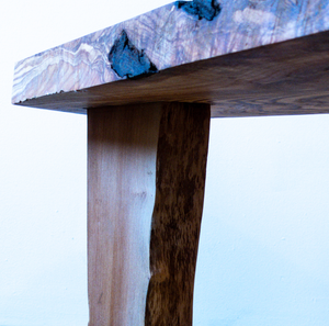 Thank You Have a Good Day Hand Built Tripod Side Table