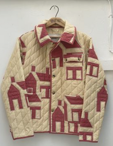 Bode Red House Quilt Jacket