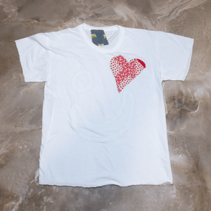 Thank You Have a Good Day Patchwork Heart T-shirt