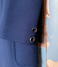 Load image into Gallery viewer, Domani Knits Navy Spring Coat