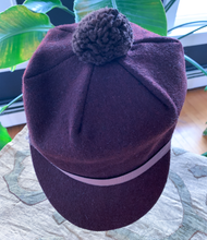 Load image into Gallery viewer, Chocolate Brown Wool Pom Pom Cap