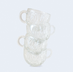 Hand Picked Vintage Home: Pair of Etched Glass Punch Cups