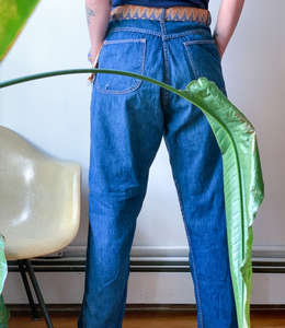 Record Holder side zip jeans