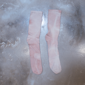 Thank You Have a Good Day Hand Dyed Organic Cotton Crew Socks