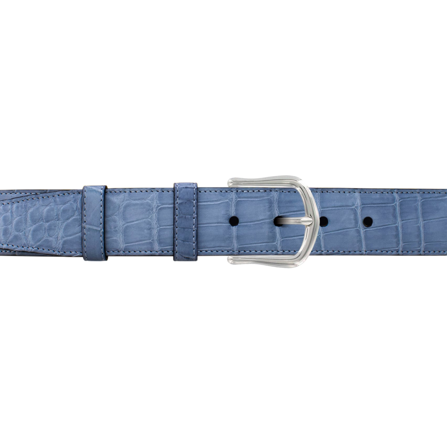 "1 1/2"" Arctic Classic Belt with Derby Cocktail Buckle in Polished Nickel"