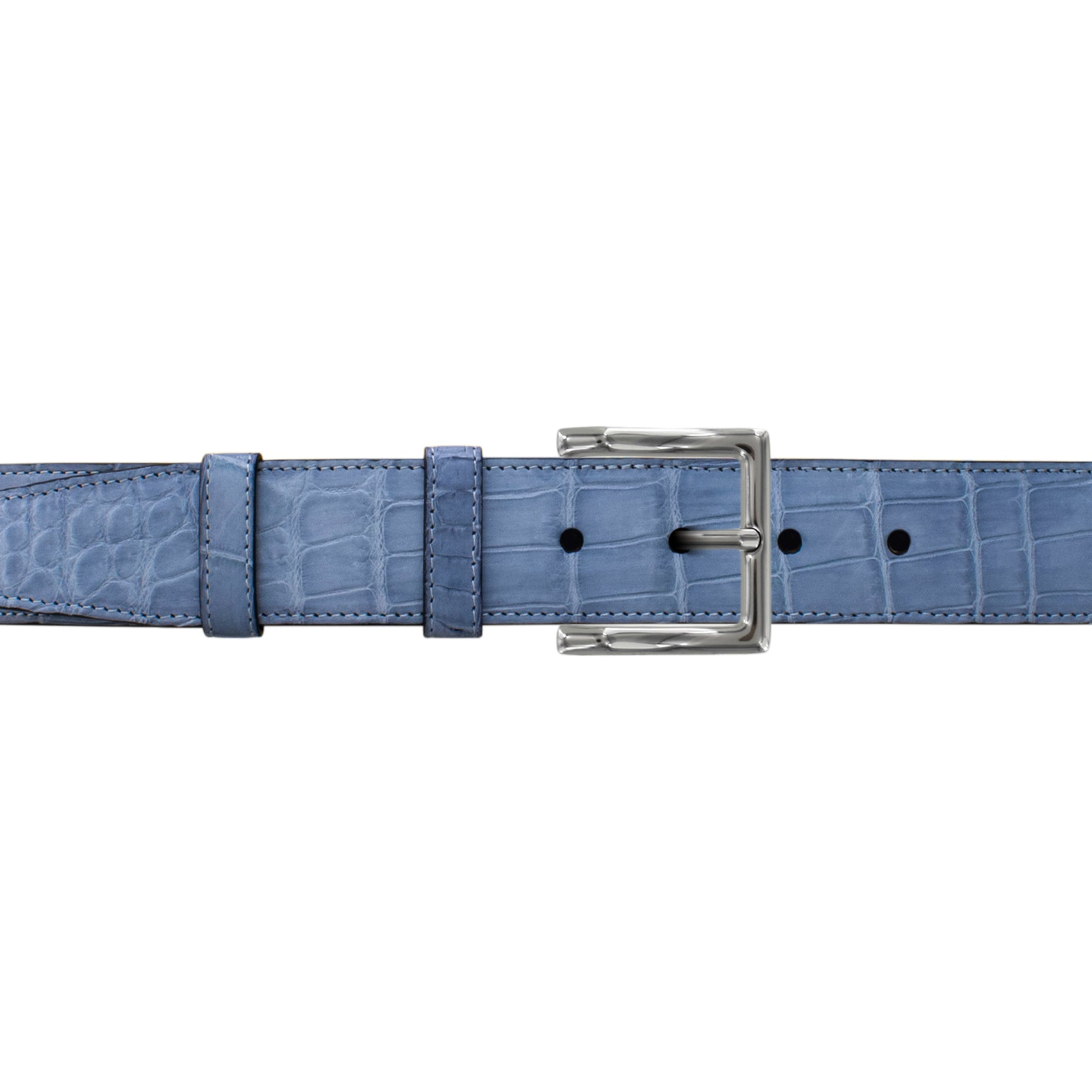 "1 1/2"" Arctic Classic Belt with Regis Dress Buckle in Polished Nickel"