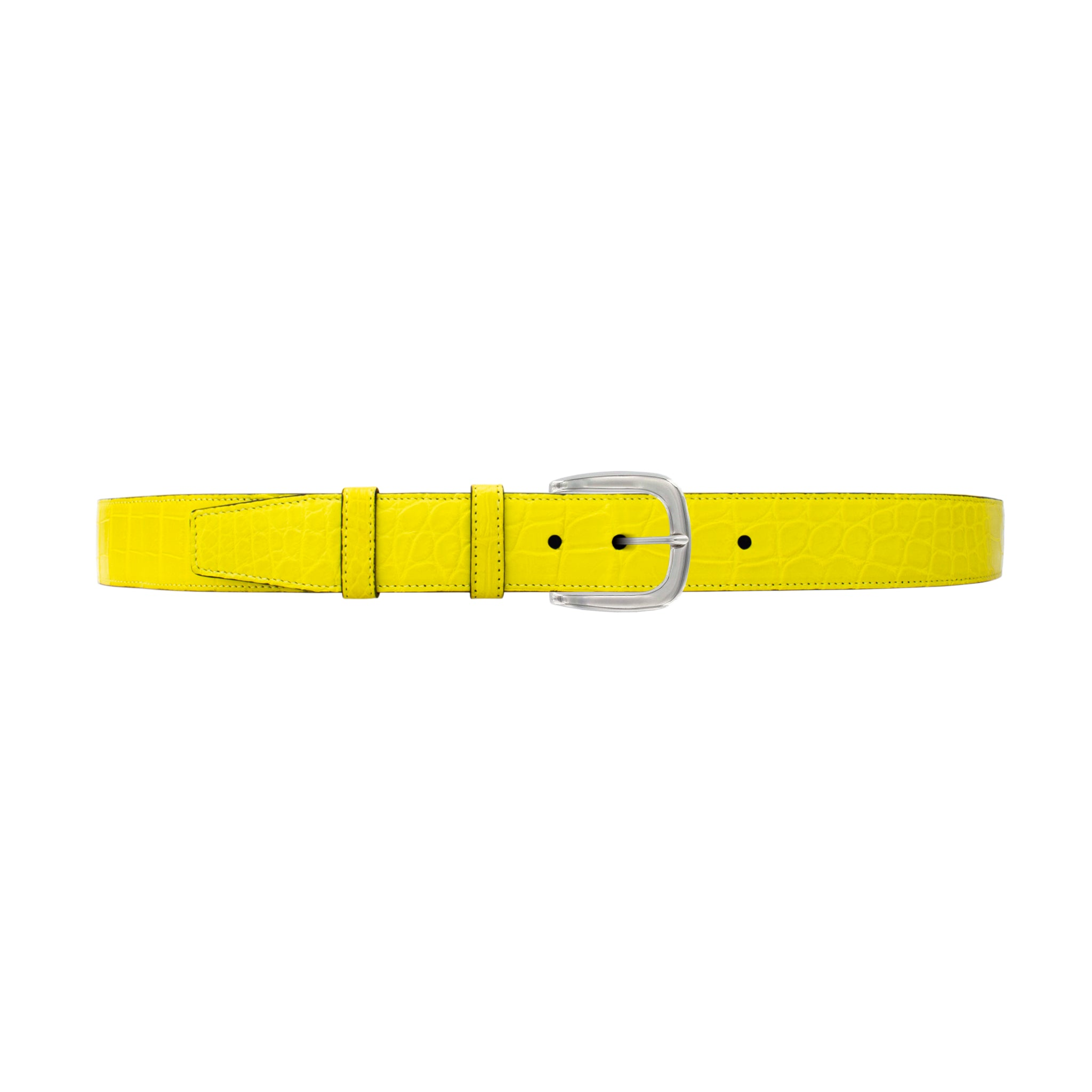 "1 1/2"" Canary Seasonal Belt with Oxford Cocktail Buckle in Polished Nickel"