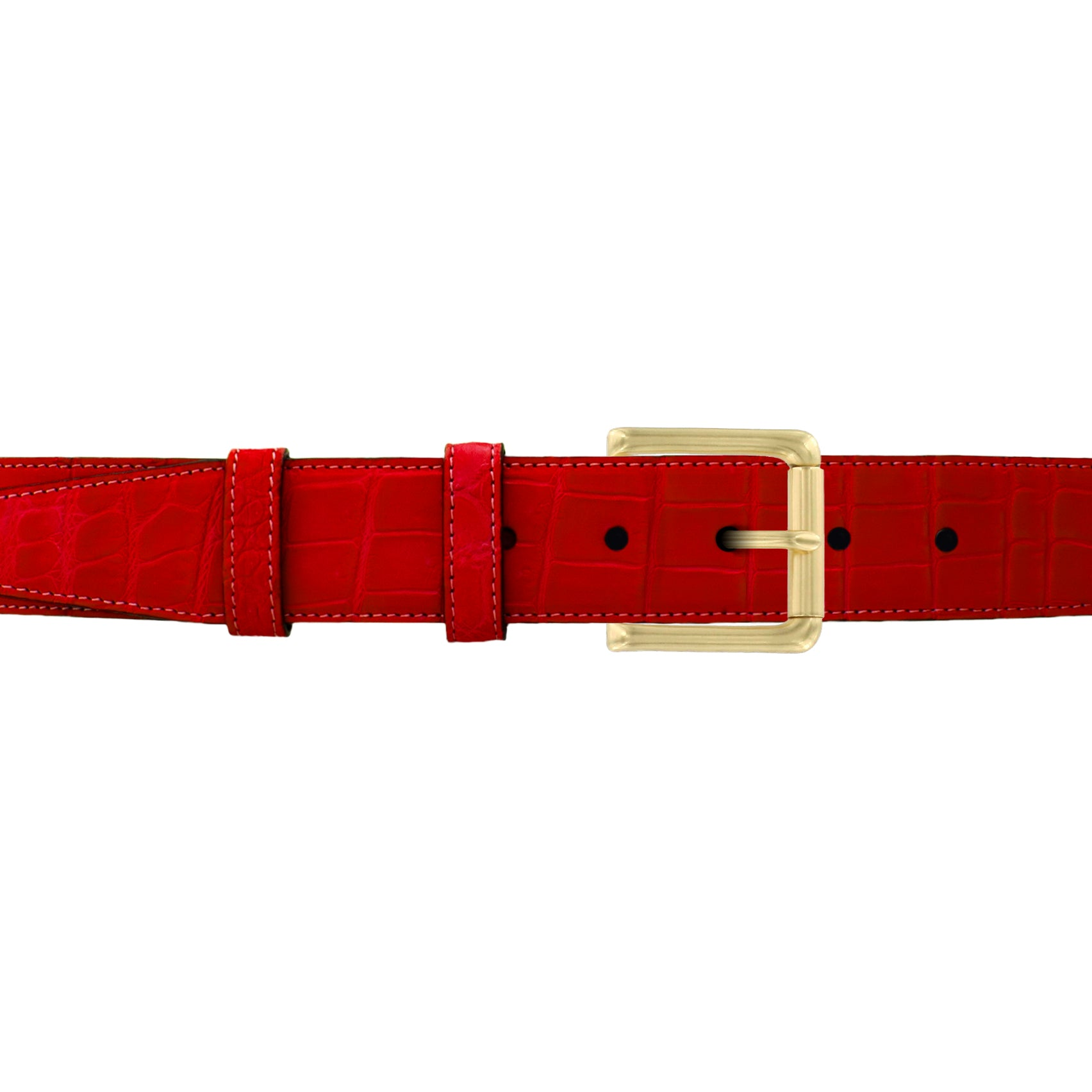 "1 1/2"" Candy Seasonal Belt with Austin Casual Buckle in Brass"