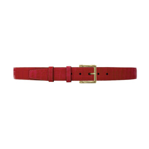 "1 1/2"" Cherry Seasonal Belt with Regis Dress Buckle in Brass"