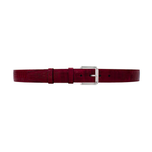"1 1/2"" Garnet Seasonal Belt with Austin Casual Buckle in Polished Nickel"