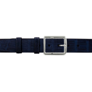 "1 1/2"" Midnight Classic Belt with Crawford Casual Buckle in Polished Nickel"