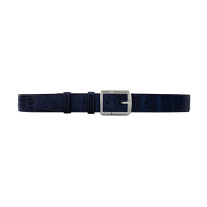 "1 1/2"" Midnight Seasonal Belt with Crawford Casual Buckle in Polished Nickel"