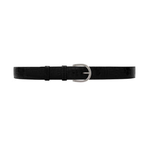 "1 1/2"" Raven Classic Belt with Denver Casual Buckle in Matt Nickel"