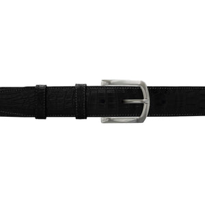 "1 1/2"" Raven Classic Belt with Sutton Dress Buckle in Matt Nickel"