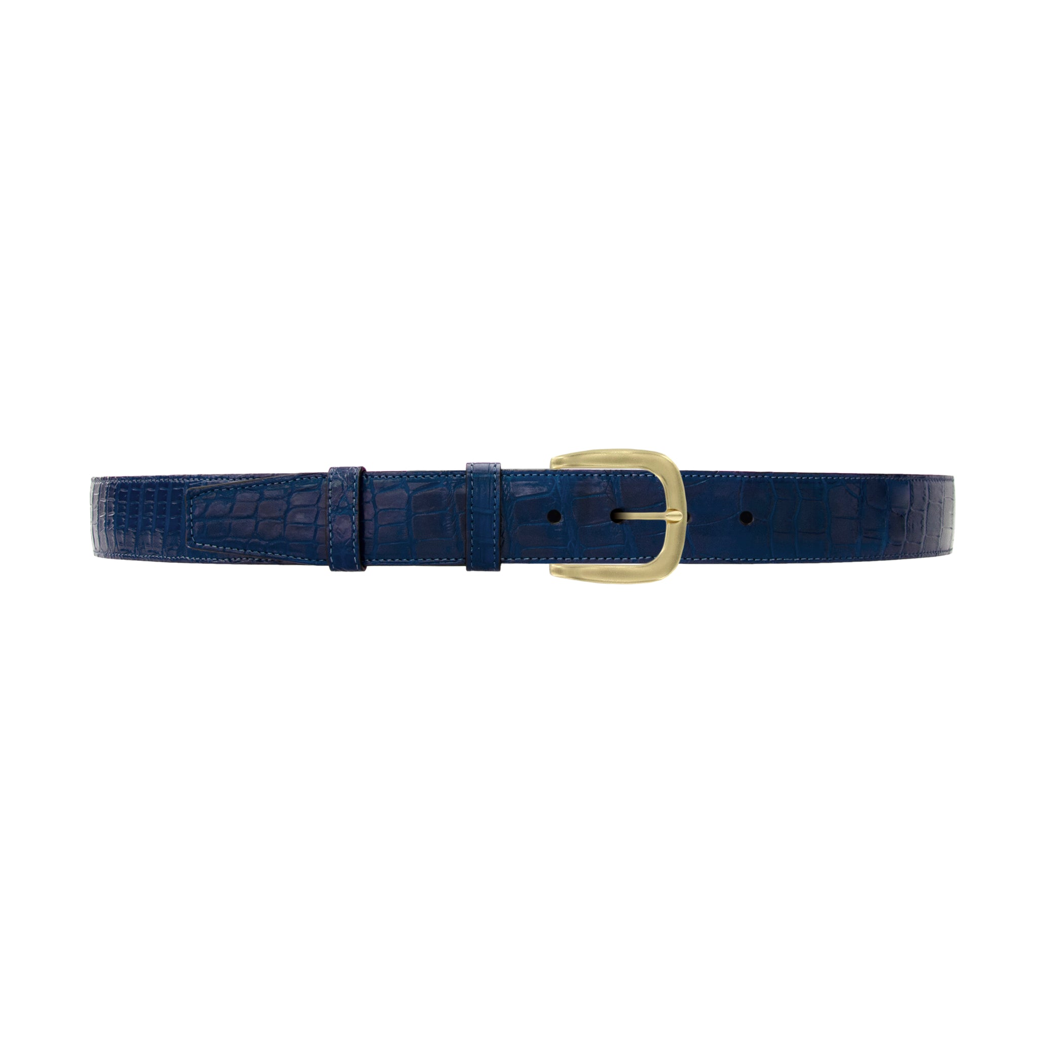 "1 1/2"" Royal Seasonal Belt with Oxford Cocktail Buckle in Brass"