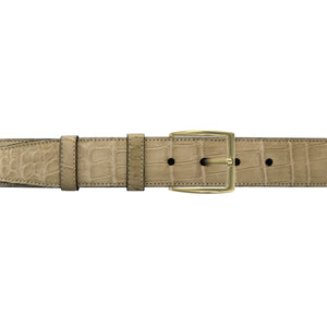 "1 1/2"" Sand Classic Belt with Winston Dress Buckle in Brass"
