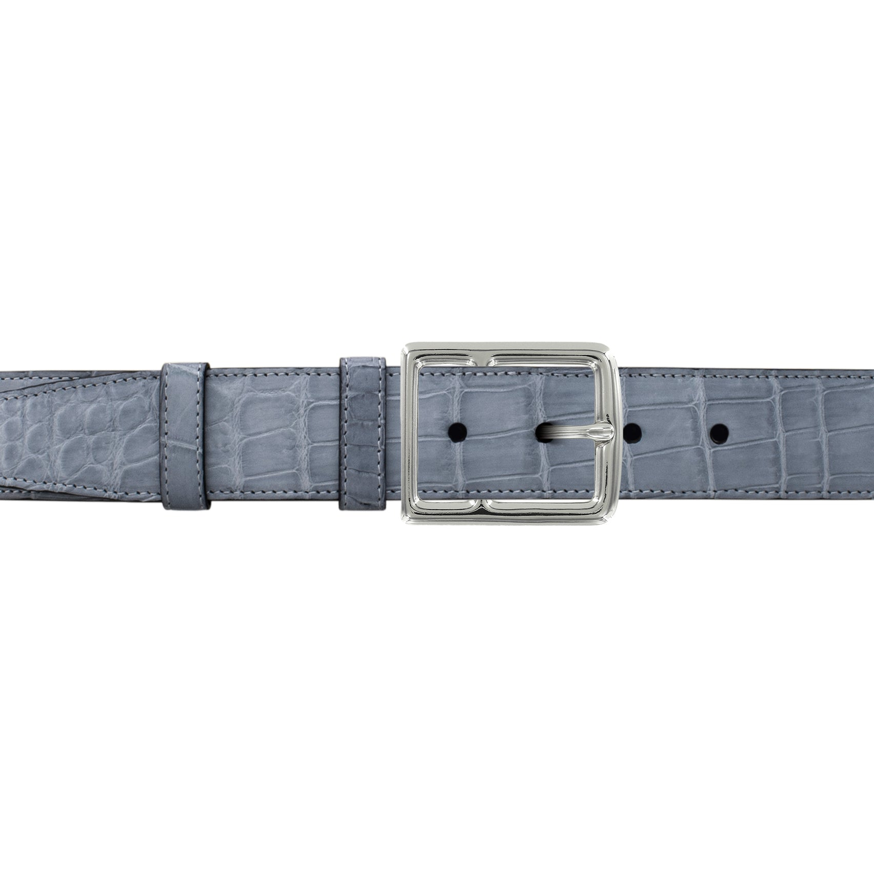 "1 1/2"" Slate Seasonal Belt with Crawford Casual Buckle in Polished Nickel"