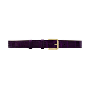 "1 1/2"" Violet Classic Belt with Austin Casual Buckle in Brass"