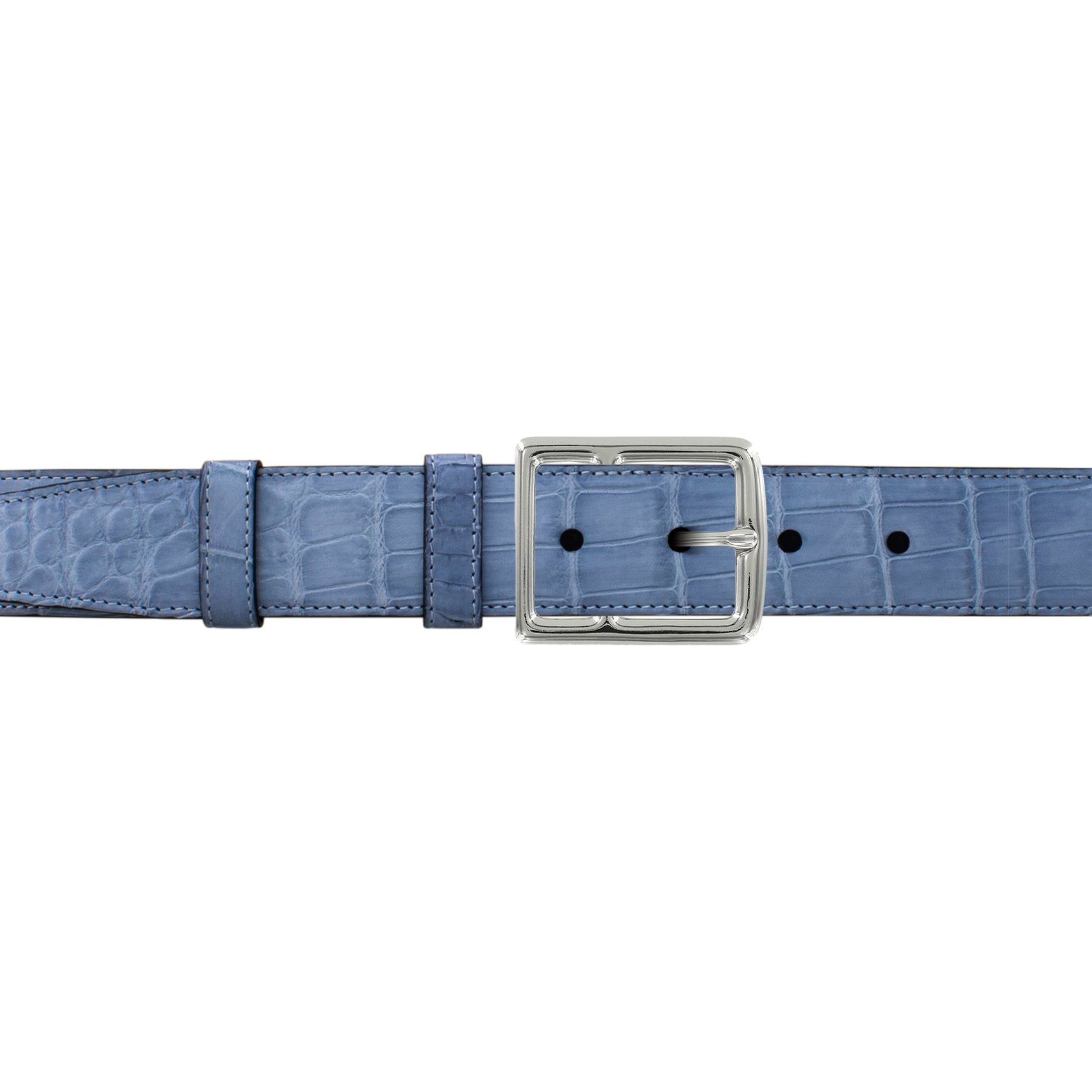 "1 1/4"" Arctic Classic Belt with Crawford Casual Buckle in Polished Nickel"