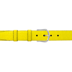 "1 1/4"" Canary Seasonal Belt with Derby Cocktail Buckle in Polished Nickel"