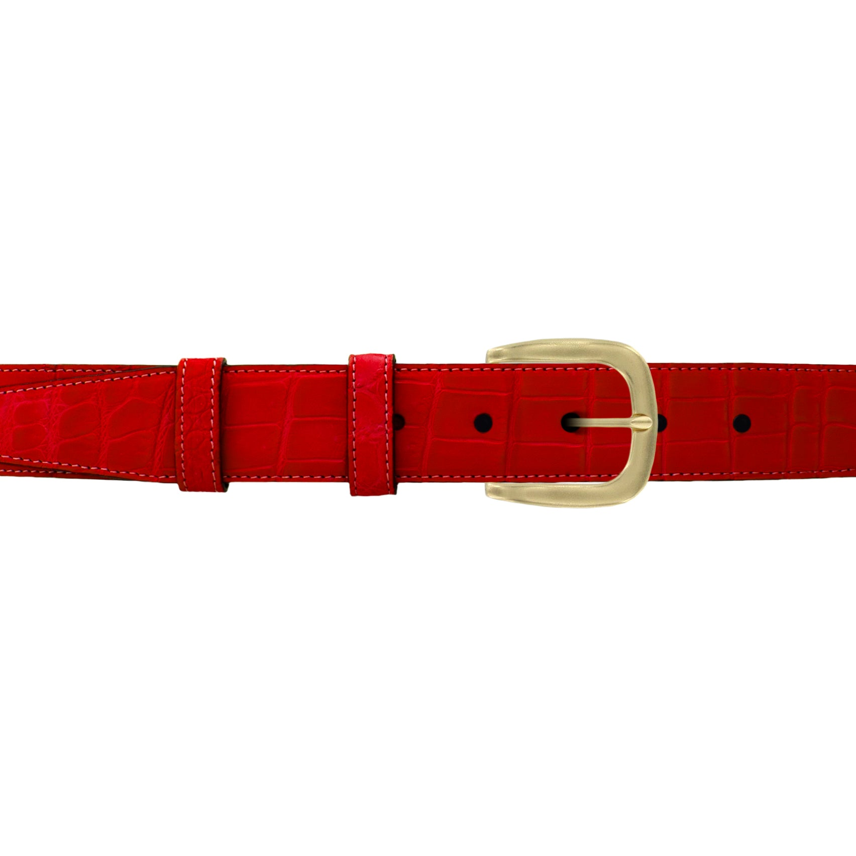 "1 1/4"" Candy Seasonal Belt with Oxford Cocktail Buckle in Brass"