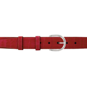 "1 1/4"" Cherry Seasonal Belt with Denver Casual Buckle in Polished Nickel"