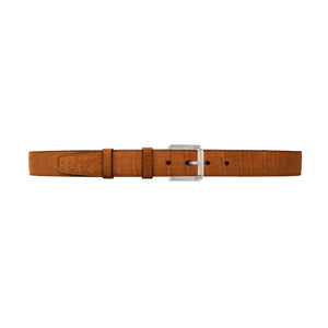 "1 1/4"" Dark Sand Classic Belt with Austin Casual Buckle in Polished Nickel"