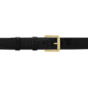 "1 1/4"" Raven Classic Belt with Austin Casual Buckle in Brass"