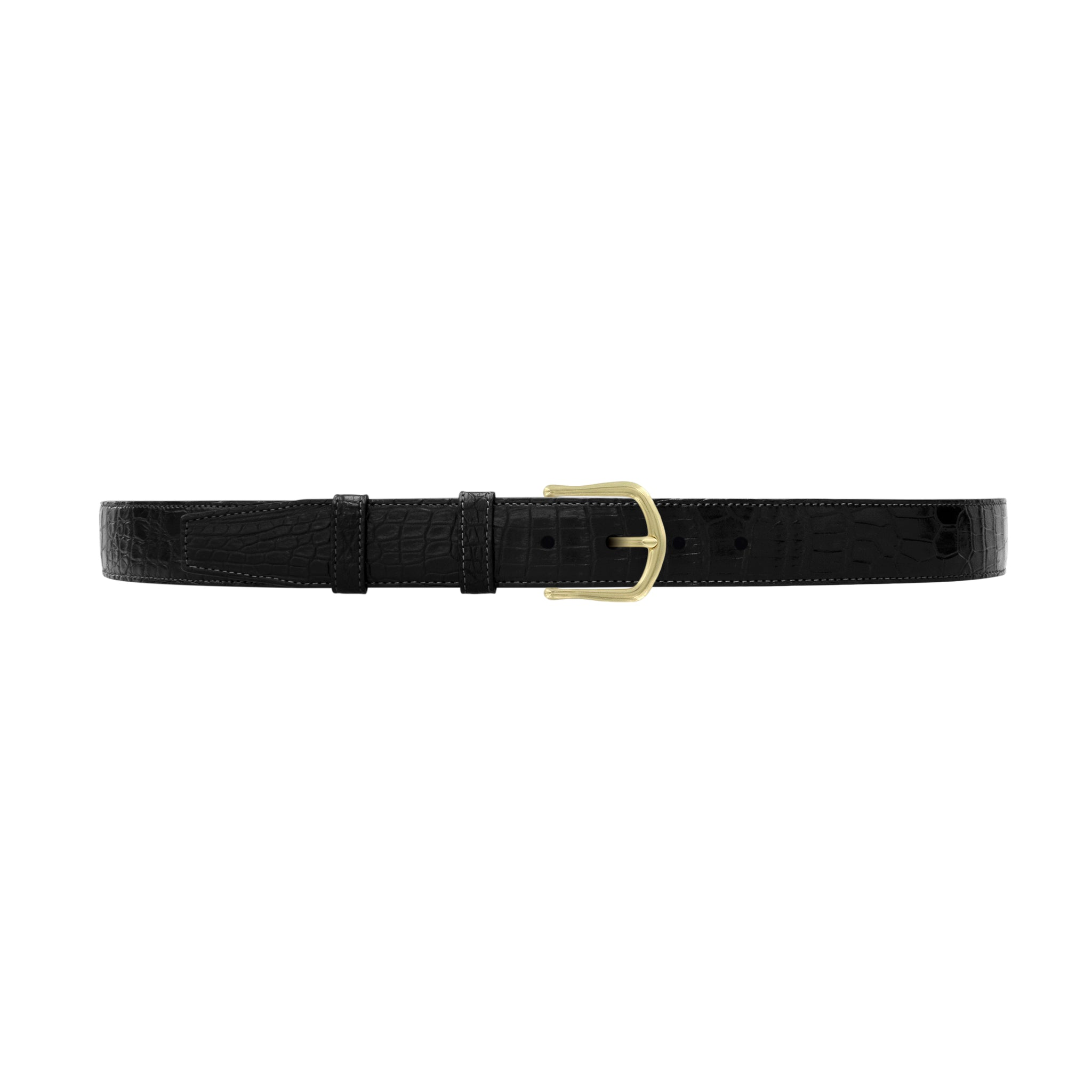"1 1/4"" Raven Classic Belt with Derby Cocktail Buckle in Brass"