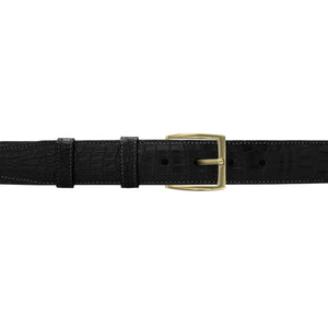 "1 1/4"" Raven Classic Belt with Winston Dress Buckle in Brass"