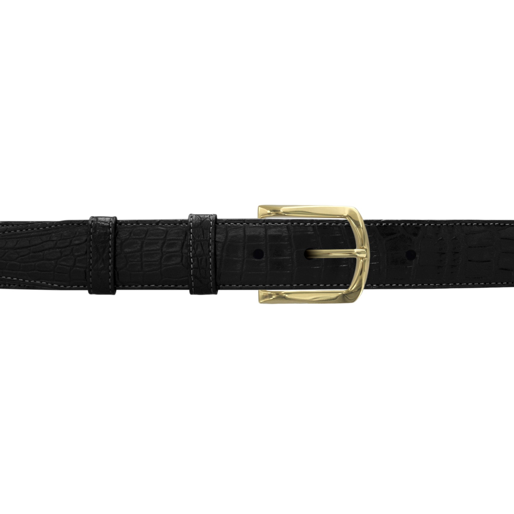 "1 1/4"" Raven Classic Belt with Sutton Dress Buckle in Brass"