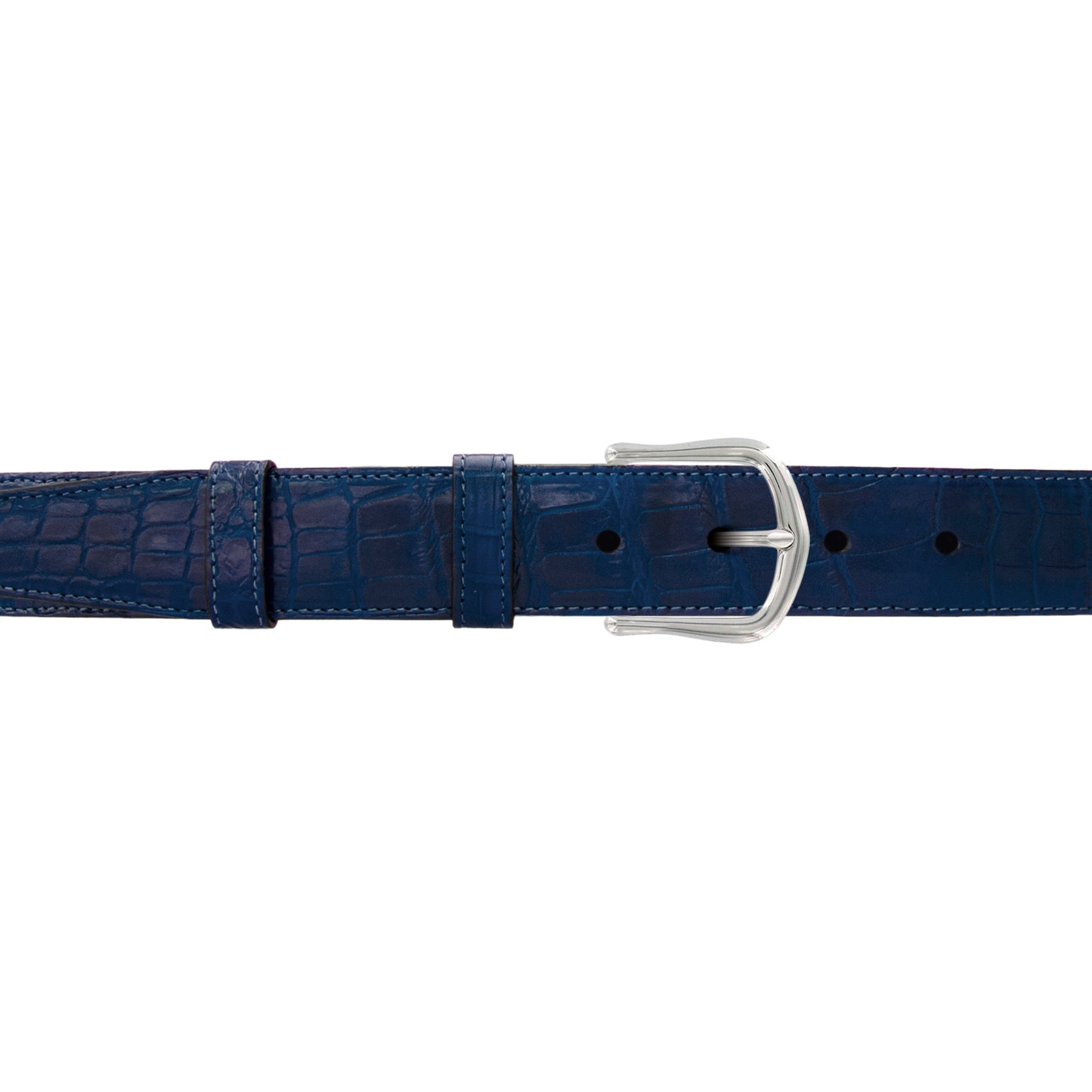 "1 1/4"" Royal Seasonal Belt with Derby Cocktail Buckle in Polished Nickel"