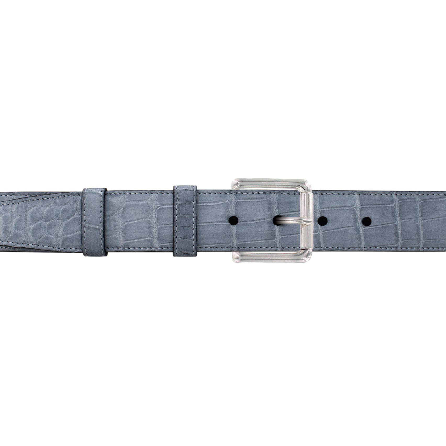 "1 1/4"" Slate Seasonal Belt with Austin Casual Buckle in Polished Nickel"
