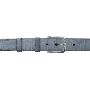 "1 1/4"" Slate Seasonal Belt with Sutton Dress Buckle in Polished Nickel"