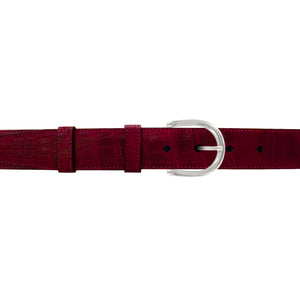 "114"" Garnet Seasonal Belt with Denver Casual Buckle in Polished Nickel"