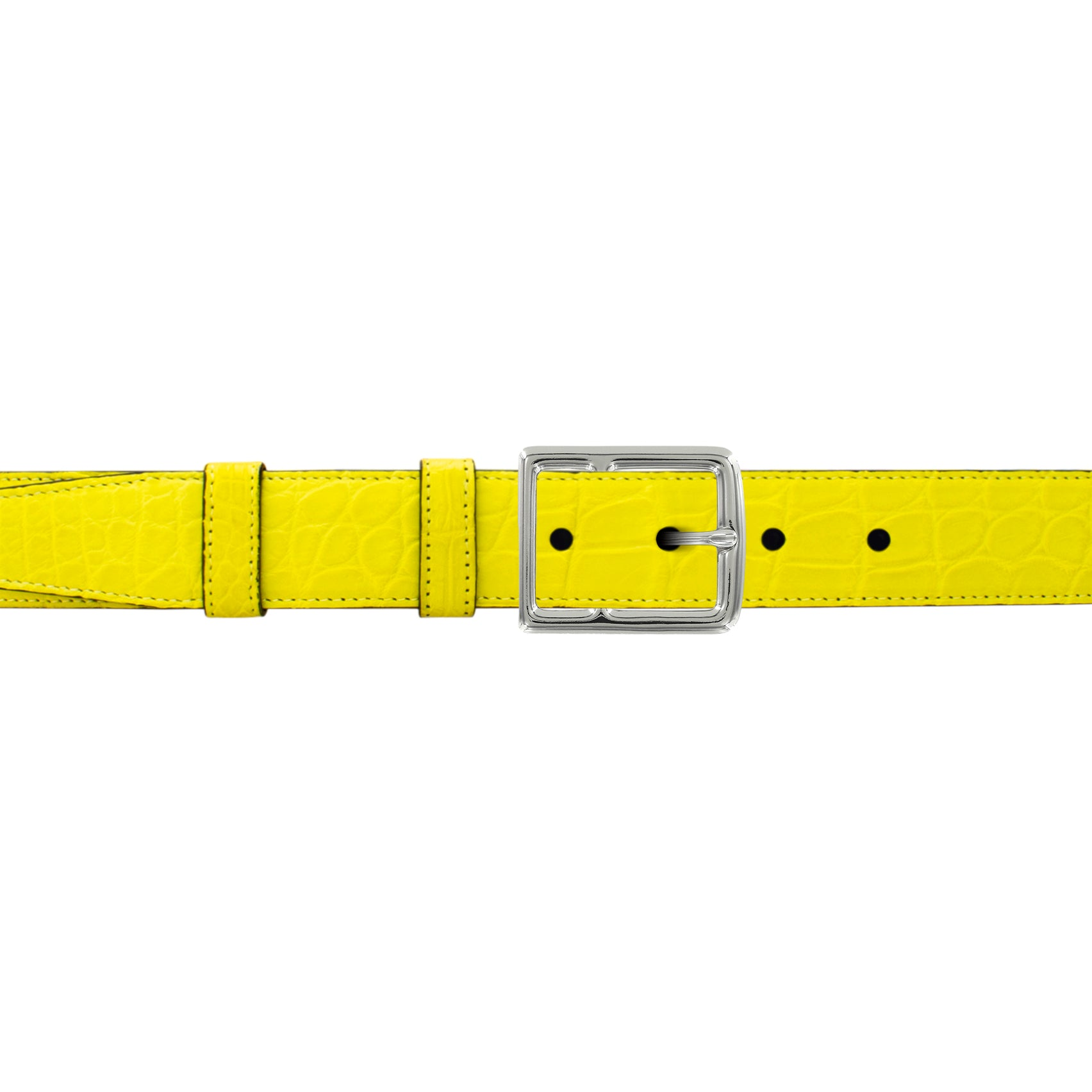 "1"" Canary Seasonal Belt with Crawford Casual Buckle in Polished Nickel"