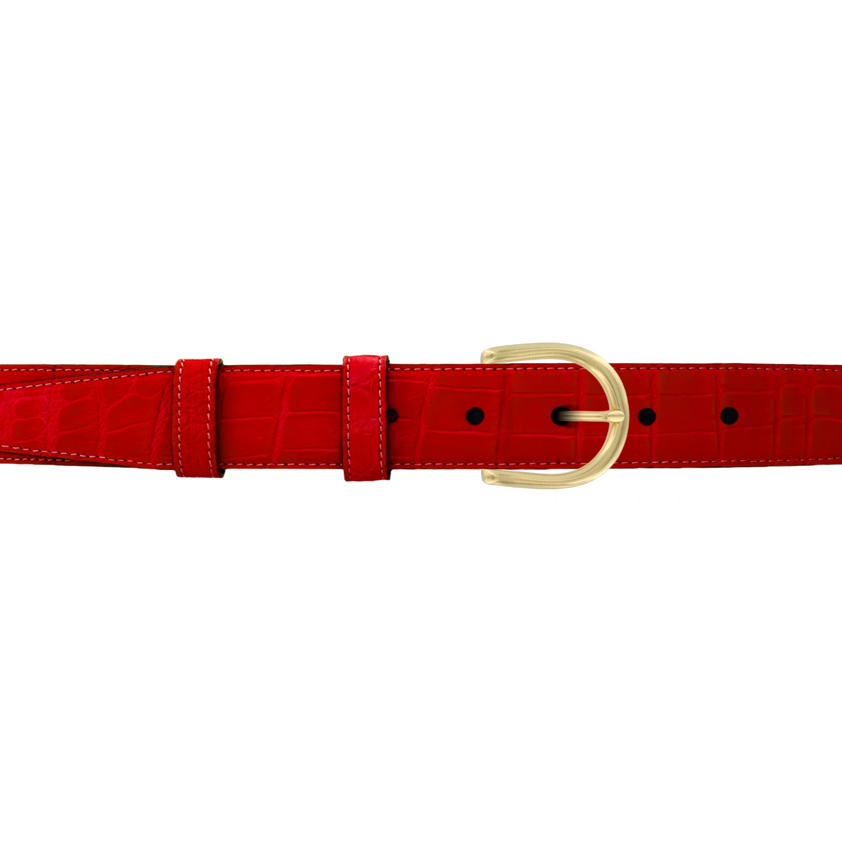 "1"" Candy Seasonal Belt with Denver Casual Buckle in Brass"