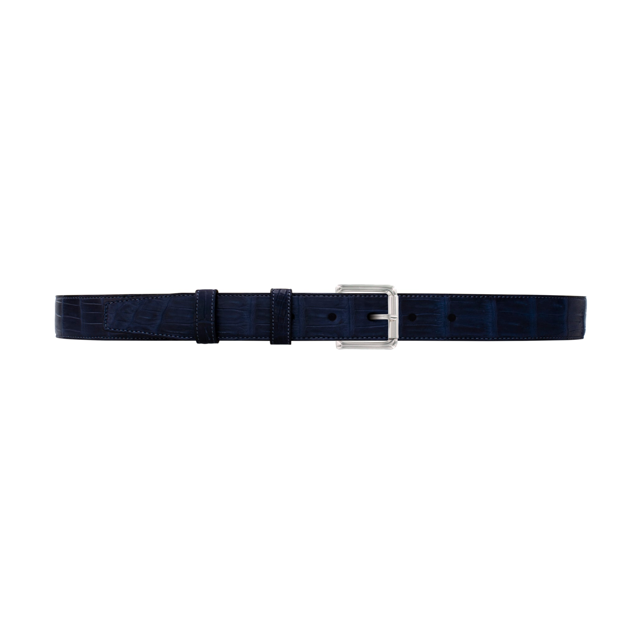 "1"" Midnight Classic Belt with Denver Casual Buckle in Polished Nickel"