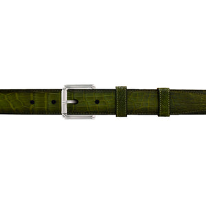 "1"" Pine Patina Belt with Austin Casual Buckle in Polished Nickel"