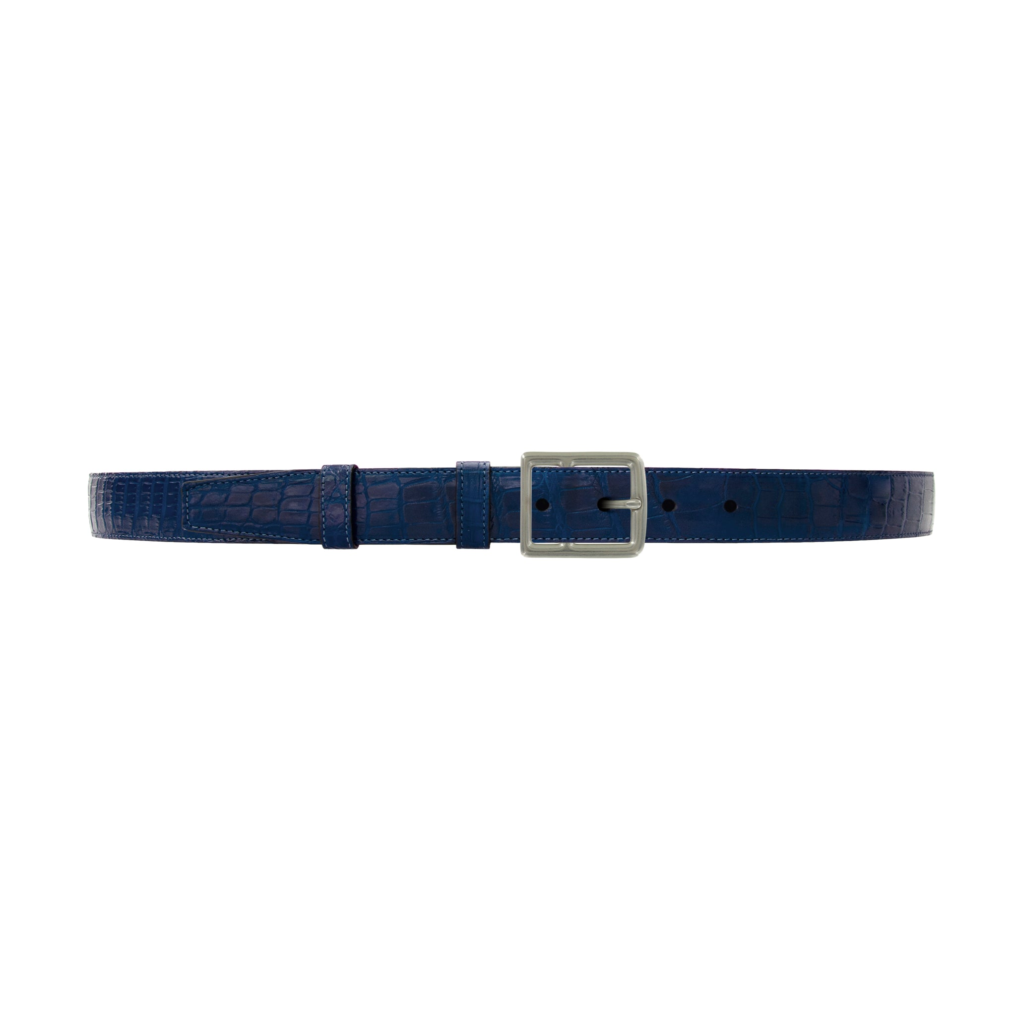 "1"" Royal Seasonal Belt with Crawford Casual Buckle in Matt Nickel"