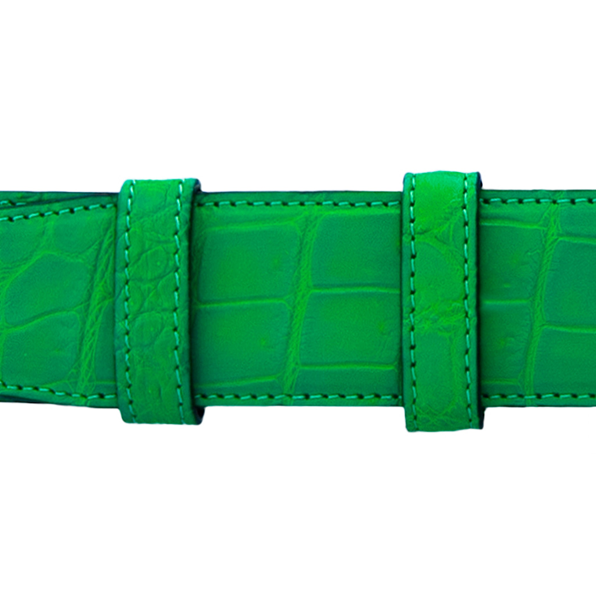 "1 1/4"" Fern Seasonal Belt With Derby Cocktail Buckle in Matt Nickel"