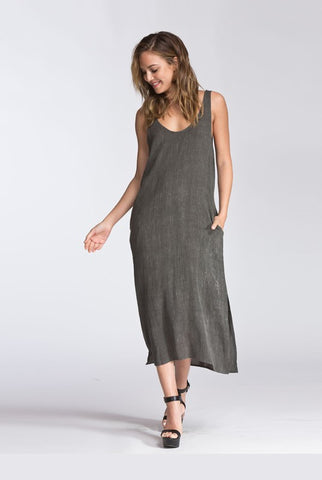 Gray Shift Dress with X-back