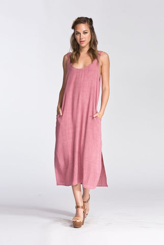 Blush Shift Dress with X-back