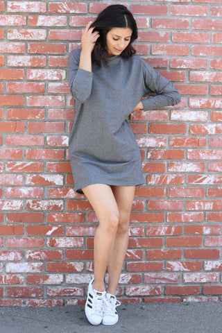 Gray Sweatshirt Dress