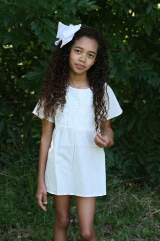 Girls crochet front tunic top