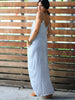 Striped Linen Maxi Dress