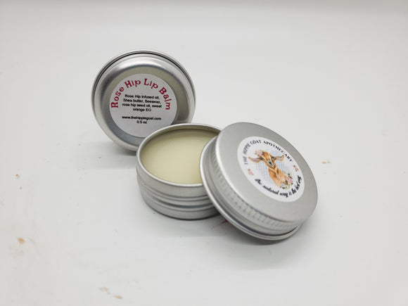 Rose hip herbal lip balm