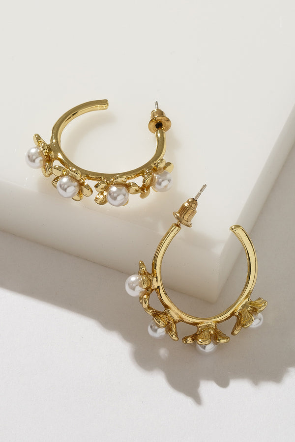 LOTUS PEARL HOOPS