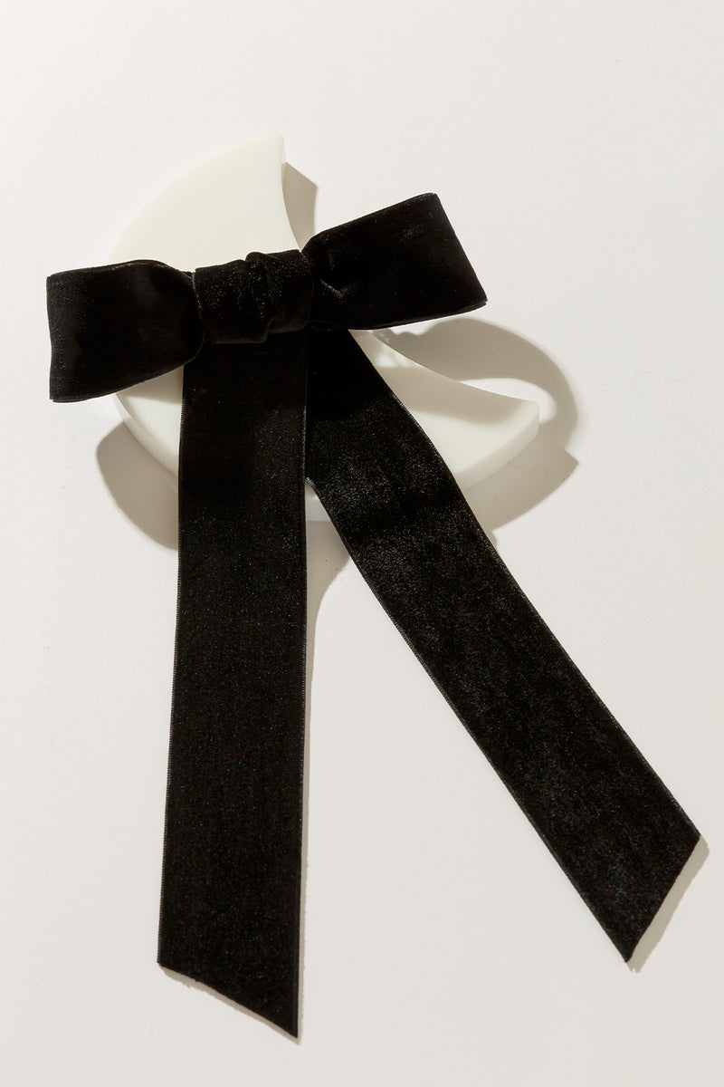 LARGE VELVET ROXY BOW